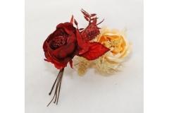 12 Pick Di Magnolia Con Pigna E Foglia Glitterate