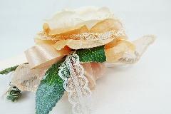 Bomboniera Tulle Pois E Pick Fiore Grande Pesca Matrimonio Wedding