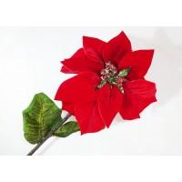 Stella Natale Vellutata Rossa Cm 70