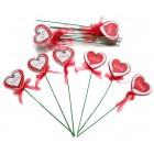 Pick Cuore Legno Love Pz 18 San Valentino
