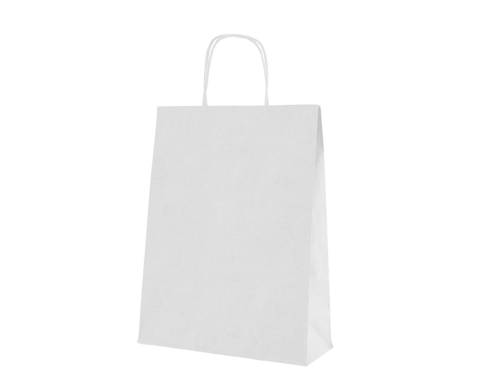25 Buste Carta 24x10x31 Kraft Bianco