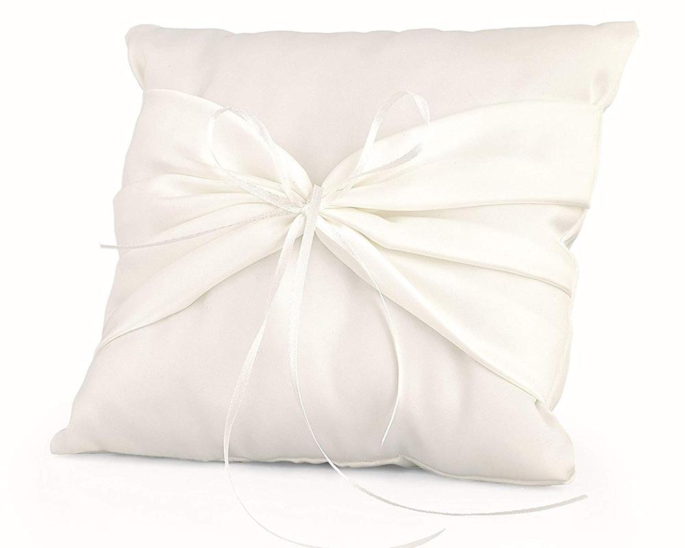Immagini Cuscini Portafedi.Cuscino Portafedi Bianco 20x20 Cm Elegant Arredo Addobbi