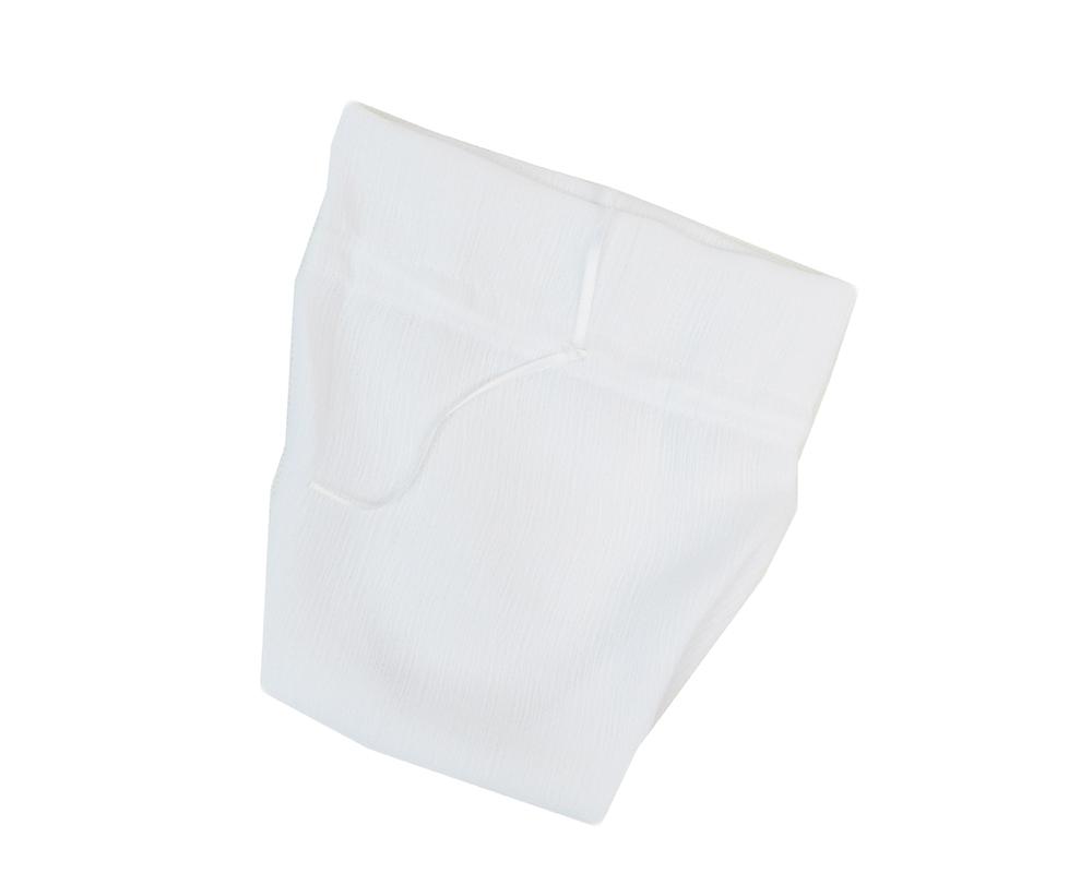 Pz 10 Sacchetto Seta Crepe Grande Bianco 10x16cm Bomboniere