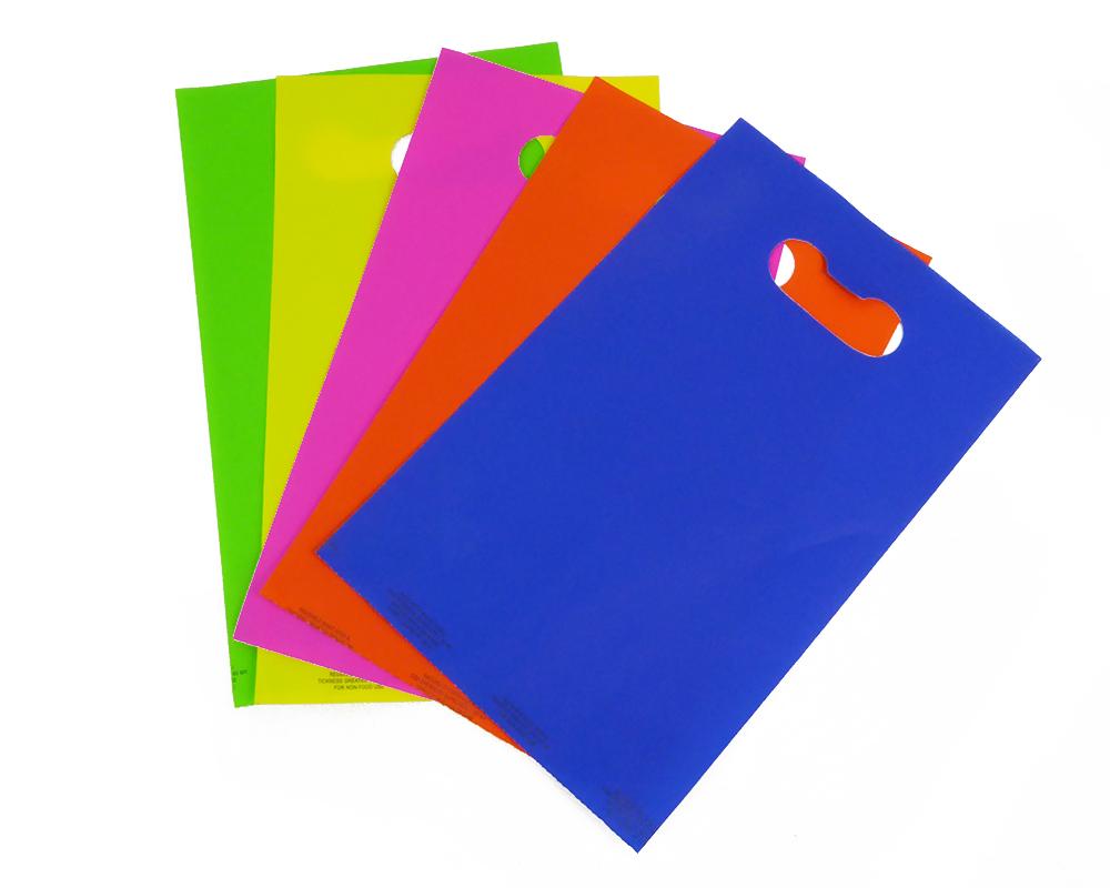 Pz 100 Sacchetti Fustellati Assortiti 16x25 Cm 5 Colori Incarti Confezionamento