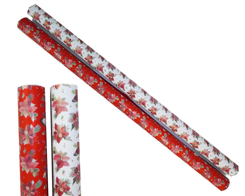 Bobina Winter Star Mt 1x25 Articoli Confezionamento Ragalo Incarti Natale
