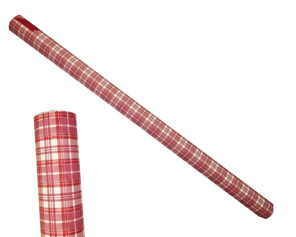 Bobina Plaid Bordo Panna Mt 1x25 Confezionamento Incarti Natale Regalo