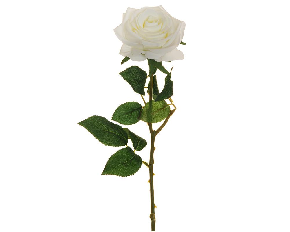 Rosa Ecuador Bianca 65 Cm Fiori Artificiali Per Composizioni