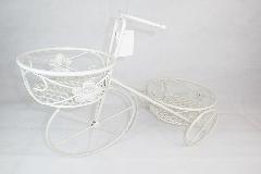 Fioriera Bici Cm 42 In Metallo Bianco Arredo Composizioni