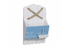 Arredamento Con Corda : Portalettere mare in legno bianco azzurro con corda arredo