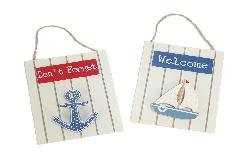 Portamemo C/molletta Ancora/barca In Legno Linea Mare 11x13 Cm
