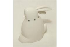 Coniglio In Porcellana Seduto Con Strass Grande