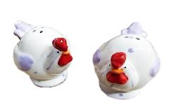 Sale E Pepe Gallo Lilla 8 Cm Ceramica Arredo Casa Bomboniera