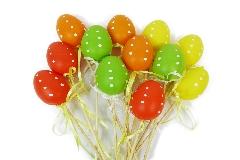 Pz 12 Pick Uovo Colorato Pois Decorazioni Addobbi Primavera Pasqua