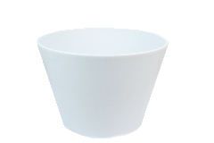 Porta Vaso Ceramica Bianca H.22 D.24 Cm Decorazione Arredo