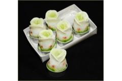 6 Candele Tealight Rose