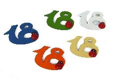 Applicazione 18 Compleanno Coccinella Legno Pz 24