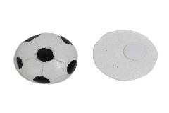 Pz 8 Applicazione Pallone Calcio 3 Cm Resina Con Adesivo Bomboniere Fai Da Te