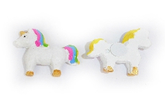 Pz 6 Applicazione Unicorno Con Adesivo 3,5 Cm In Resina Bomboniere Fai Da Te