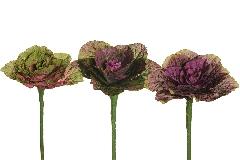 Cavolo Ornamentale Cm 34 Fiori Artificiali Decorazione Composizione Floreal