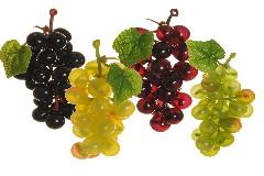 Pz 6 Grappolo Uva Mignon 8 Cm Frutta Artificiale Decorativa Autunno