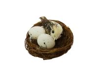 Nido C/ Uccellino E Uova Cm 6 Pz 8 Primavera Pasqua