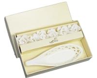 Piattino Porta Saponetta Bagno in ceramica e roselline sapone con scatola