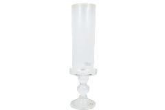 Candeliere Vetro C/ Parafiamma Stretto 3