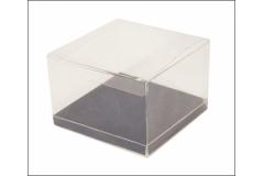 10 Scatole Trasparenti Fondo Velluto 25x25x7