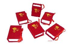 Pz 6 Astuccio Libro Laurea Portaconfetti 5,5x8xH.3 Cm Vellutato