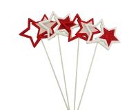 Pick Stella Legno Pz 14 Decorazione Linea Natale