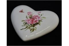 Cuore In Ceramica Con Rose