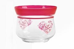 Vaso Cuore In Vetro D.12 H.11 Cm Regalo San Valentino