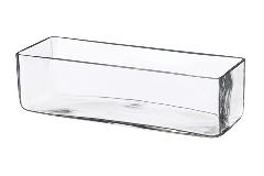 Vaso Rettangolare 10x35xH.15 Cm Contenitore In Vetro Trasparente