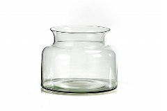 Vaso Vetro Riciclato Barattolo D.11xH.12 Cm Decorazione Arredo