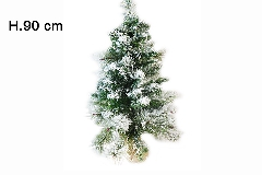 Albero Di Natale Innevato Cortina Cm 90