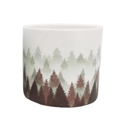 Vaso Foresta D. 13 H. 12 Tema Natale Composizione Floreale