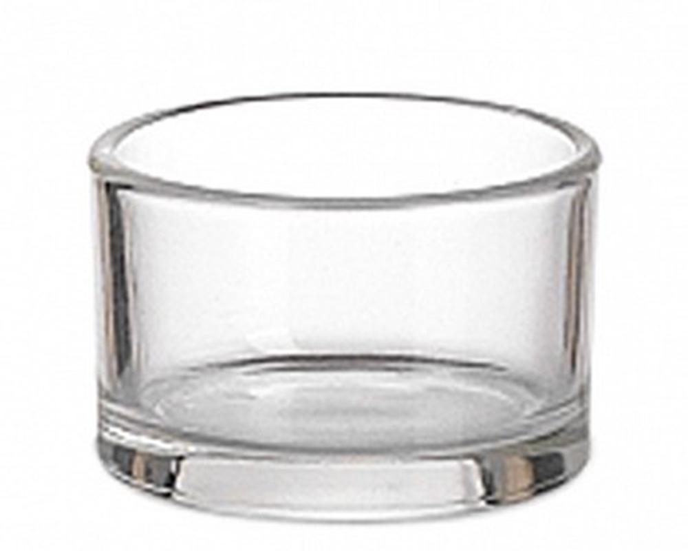 Pz 5 Porta Tea Light Vetro Liscio Trasparente D.5 H.3.5 Cm Decorazione Arredo