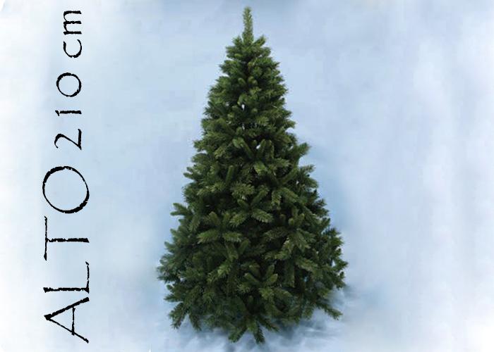 Albero Di Natale Pino Sweden Cm 210 Tips 1185 Base Cm 142