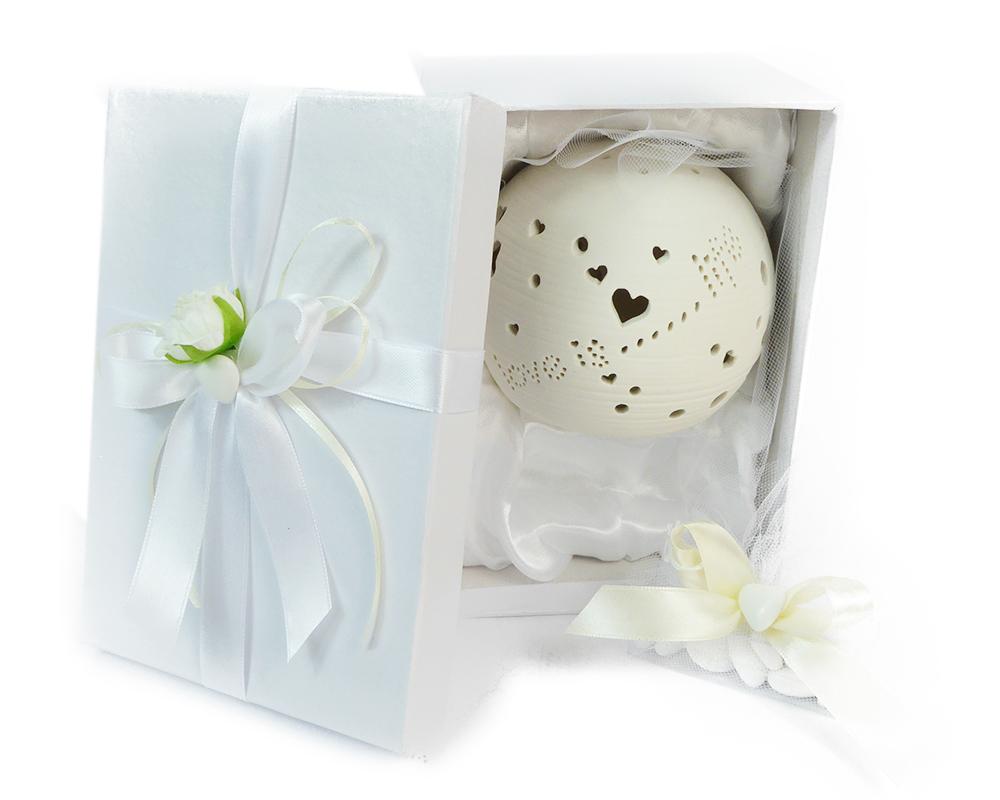 Bomboniere Matrimonio Zelda.Bomboniera In Ceramica Con Luce Led Love Is Life Sferico H 10